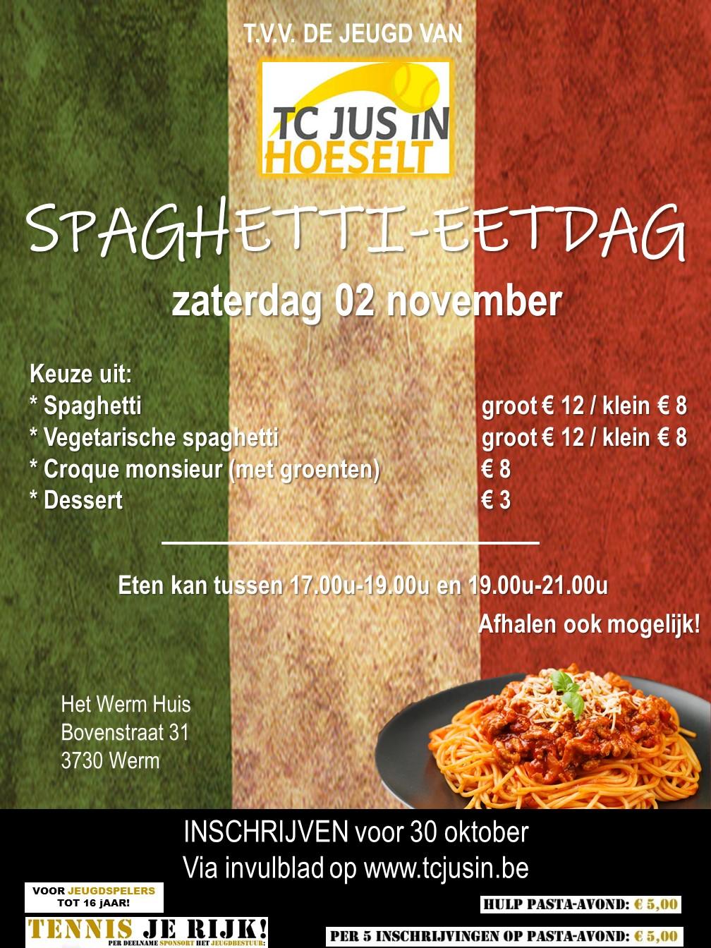 Spaghetti-eetdag