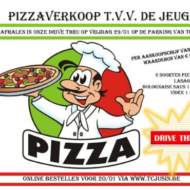 Pizzaverkoop t.v.v. de jeugd